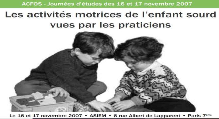 Activités motrices de l'enfant sourd – 2007