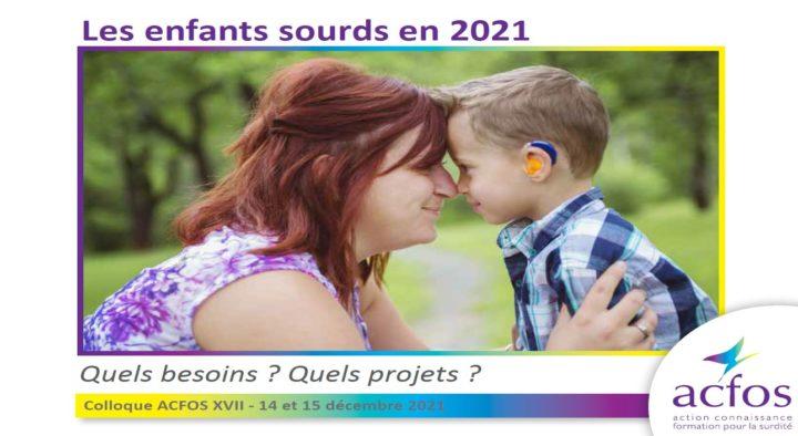 Colloque ACFOS 2021 : 14 et 15 décembre 2021